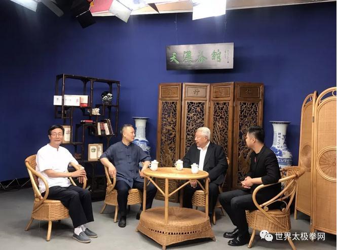 李树模,余功保,马海龙在电视台